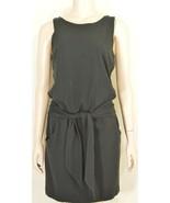 1 theory dress SZ S black mini short self tie stretch pockets - $29.69