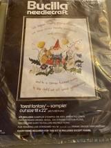 """Vintage Bucilla Needlecraft 48726 Forest Fantasy Sampler New 18"""" x 22"""" New - $30.00"""