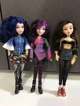 Disney Descendants Barbie Dolls Retired? lot of 3 HTF Evie Mal Lonie - $59.35