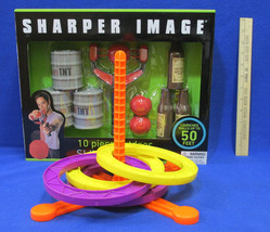 Sling Shot Set Sharper Image 10 Piece & Ring Toss Set Outdoor Games Lot ... - $16.82