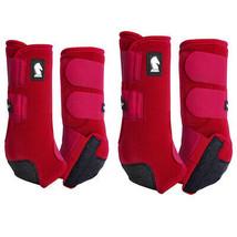 4 Pack Classic Equine Legacy System Crimson Sport Boots U-02CM - $199.98