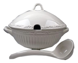 MIKASA  ITALIAN COUNTRYSIDE SOUP TUREEN & LADLE WITH LID NEW IN THE BOX - £120.57 GBP