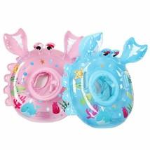 Baby Swimming Rings Inflatable Floating Seats Tube Raft Crab Patterns Wa... - $22.17