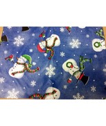 """Superior Tablecloth Flannel Back, 60""""x80"""" OVAL, WINTER CHRISTMAS,SNOWMEN... - $17.81"""