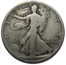 1917 Walking Liberty Half Dollar 90% Silver Coin Lot# A 114