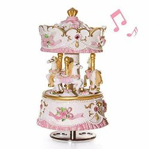 Mrwinder Carousel Music Box Gift - 3-Horse Classic Decor | Castle in The... - $34.43