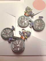 Gymboree Bonjour Providence NWOT Barrette Clips Snaps Bicycles Light Blue Summer - $17.95