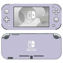 Nintendo Switch Lite Console Vinyl Skin Decal Stickers Pastel Purple Color Cute - $9.70