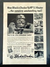 1957 Black & Decker Portable Electric Tools Heavy Duty Router Full Page Ad - $6.64