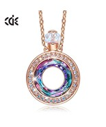 Embellished with crystals from Swarovski Necklace Pendant Perfume Bottle... - $33.48