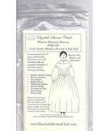 Elizabeth Stewart Clark Civil War doll pattern - $19.80