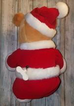 Christmas Winnie The Pooh Wind Up Plush Bear - Wish You A Merry Christmas Disney image 2