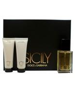 DOLCE & GABBANA SICILY 3 PIECE GIFT SET FOR WOMEN EAU DE PARFUM SPRAY 50... - $123.75