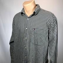 Vintage Tommy Hilfiger L Shirt Mens Long Sleeve Button Front Size Large - $18.69