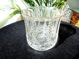 EAPG McKee Glass Co. Fringed Drape aka Cresent Vase - $28.70