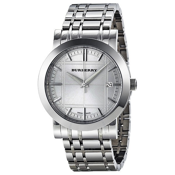 c819dee75658 Burberry heritage silver dial stainless steel mens watch bu1350
