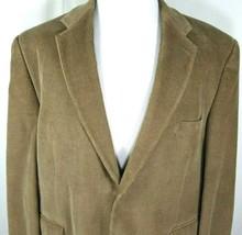 Chaps Ralph Lauren Mens Corduroy Sport Coat Size 48 Regular Light Brown ... - $41.94