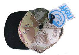 Neff Men's Desert Storm Camo Thunderbolt Mesh Snapback Baseball Hat Cap NWT image 6