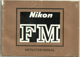 Nikon FM SLR Film Camera English Instruction Manual/Booklet OEM - $8.95