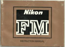 Nikon FM SLR Film Camera English Instruction Manual/Booklet OEM - $8.95