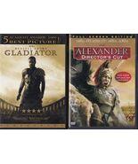 Gladiator (2003) & Alexander (2004) DVD's - $5.99