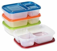 Lunchboxes 3 Compartment Bento Lunch Box Containers 4 pcs Picnic Food St... - $29.71