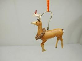 Hallmark 2007 Peaceful Animals Reindeer and Cardinal Christmas Ornament - $7.91