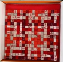 Hermes Bolduc Silk Scarf au Carre Rouge Bordeaux Gris Scarf 90  New 20yr... - $410.85