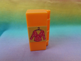 Mattel Polly Pocket Dollhouse Replacement Orange Case / Closet Accessory... - $2.92