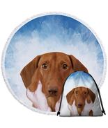 Painted Cute Dog Beach Towel - $12.32+