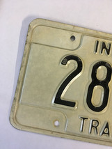 Vintage Indiana Trailer Metal License Plate 1987 2899D White Black image 2