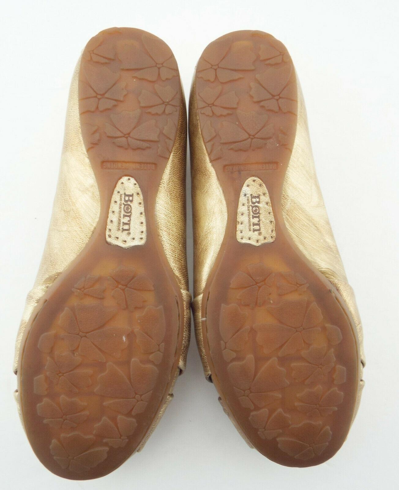 BORN Size 6 Fusion Gold Ballet Flats Shoes 36.5
