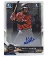 2018 Bowman Chrome Prospects Autographs #BCPA-KR Kristian Robinson Diamo... - $250.00