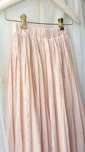 "Blush Long Tulle Skirt Blush Wedding Bridesmaid Skirt High Waisted 27.5"" long image 8"