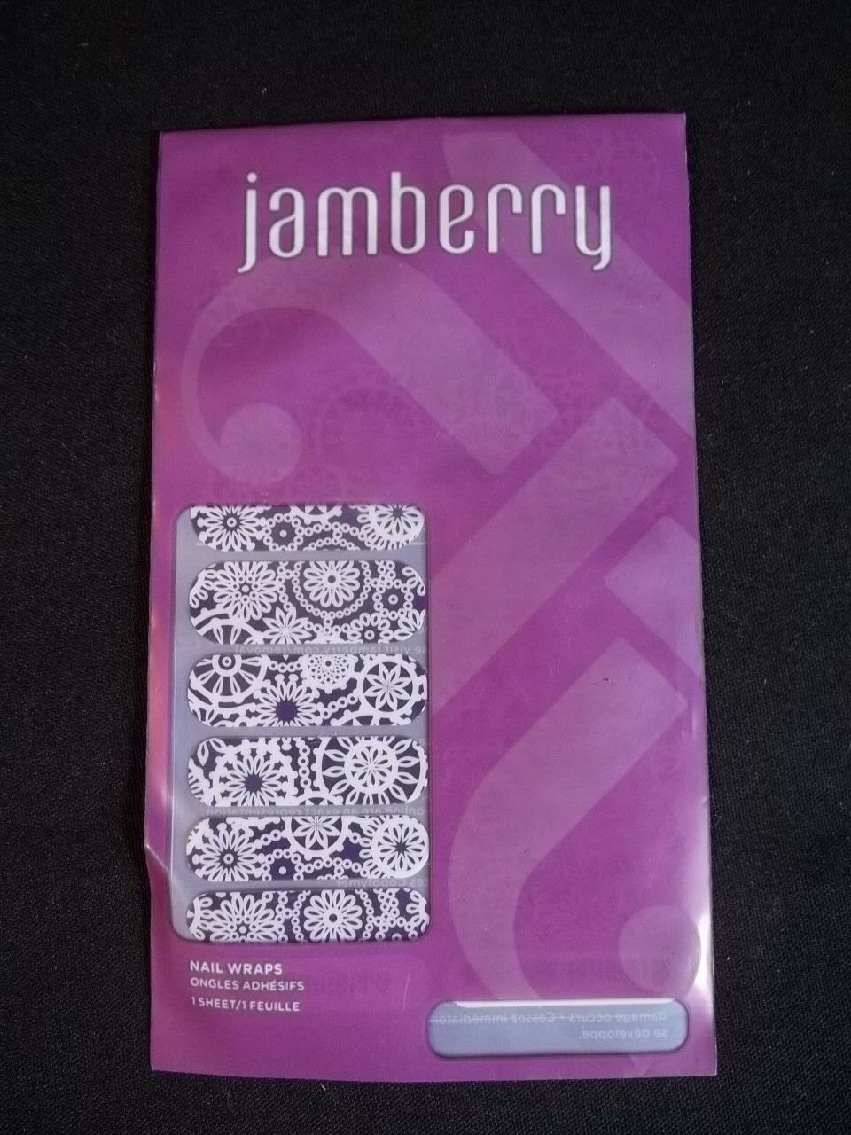 Primary image for Jamberry Wraps Full Sheet Purple White Snowflakes