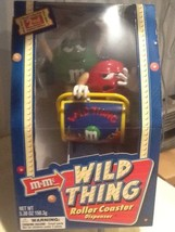 M&m Wild Thing Roller Coaster Candy Dispenser 2nd Edition w/candy NEW - $12.95