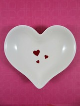 Hallmark Valentine Heart Shaped Candy Dish Trinket Bowl White Ceramic Re... - $18.80