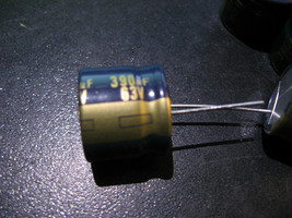 Qty 9 Panasonic M CE FE Electrolytic Capacitors 390uF 63V 105C Radial - NOS  - $8.07