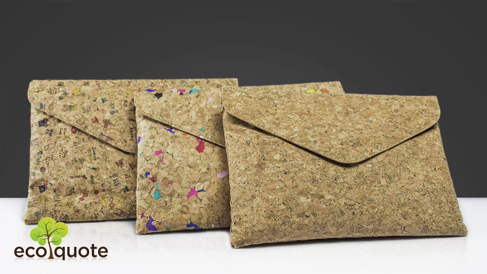 EcoQuote Envelope Design Sling Bag Handmade Cork Eco Friendly Material For Vegan