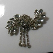 Large Vintage Clear Rhinestone Brooch/Pin  - $64.35