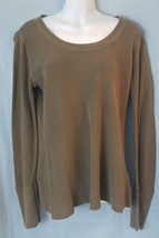 CALVIN KLEIN JEANS WOMENS thin Sweater long sleeve knit shirt cuffs BOHO XL - $17.66