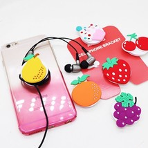 LOVELY Silicone Funny 3D Food Fruit Pineapple Phone Holder Stand For Sma... - $5.45