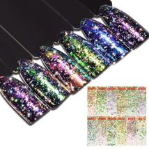BAHYHAQ - 14 Colors Mirror Glitter Aluminum Flakes Magic Mirror Effect P... - $1.70