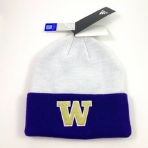 New Unisex Adidas NCAA Washington Huskies Coach Knit Cap Beanie Hat OSFM... - $28.49