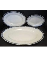 Three Nesting Platters -  Union Ceramique Limoges France Pattern# UNC4 - $47.49
