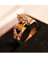 Stunning - 10K Yellow Gold and Diamond Ring - $125.00