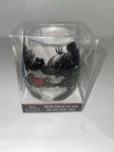 Disney Mickey Mouse & Minnie Love Heart Tear Drop Stemless Wine Glass 20 oz NEW - $16.82