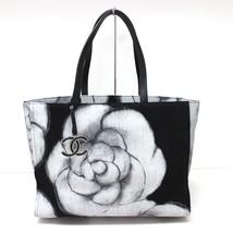 AUTHENTIC CHANEL Camellia Denim Canvas Tote Bag... - $2,500.00