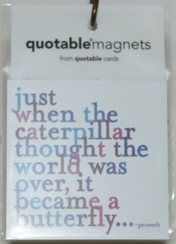 Quotable Magnets MD54 just when the caterpillar thought the world proverb Magnet