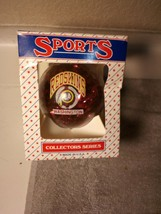 WASHINGTON REDSKINS  CHRISTMAS ORNAMENT  NFL  TOPPERSCOT--FREE SHIP--NEW - $17.27